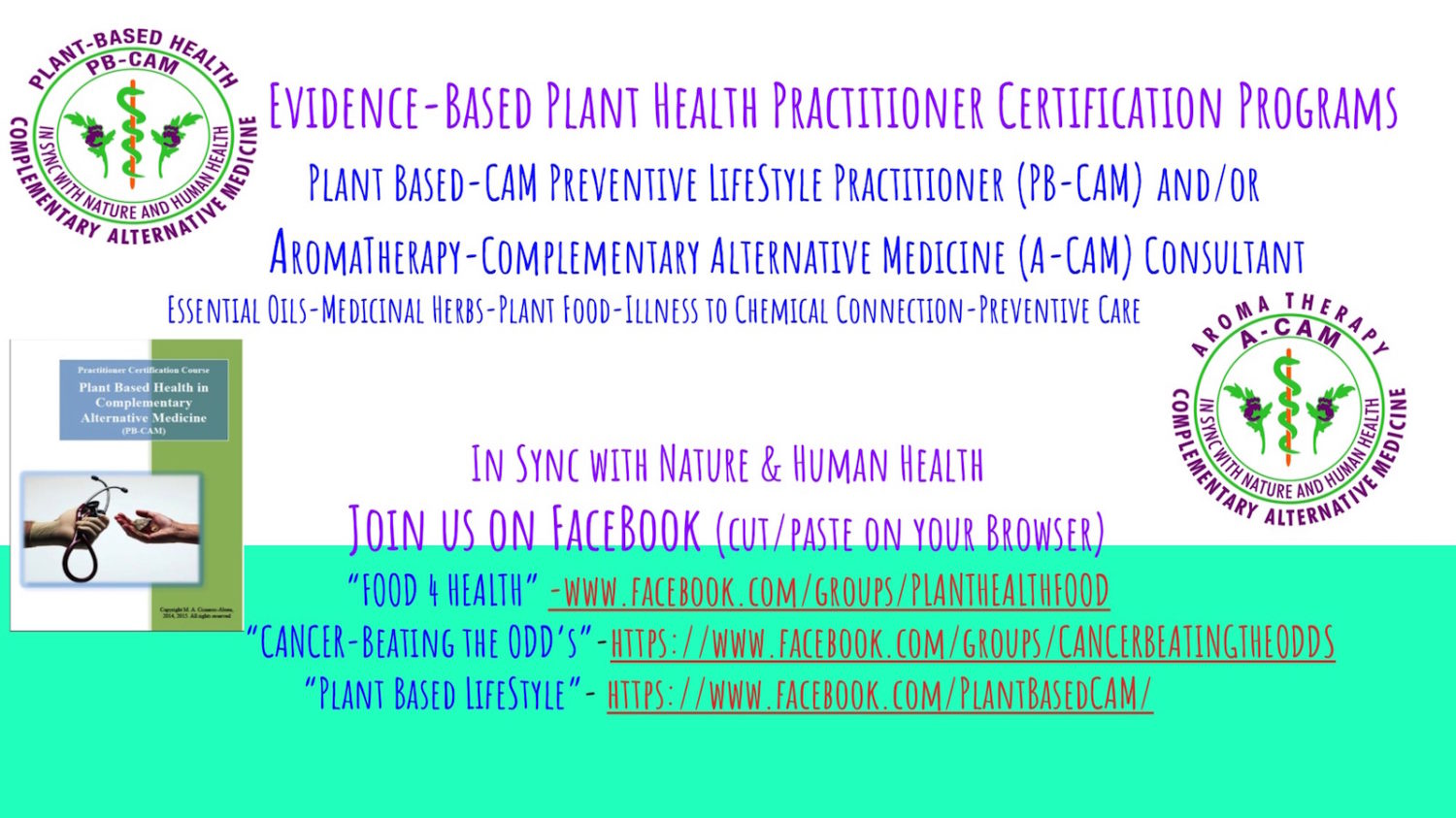 Plant-Based Complementary Alternative Medicine (CAM) & Lifestyle